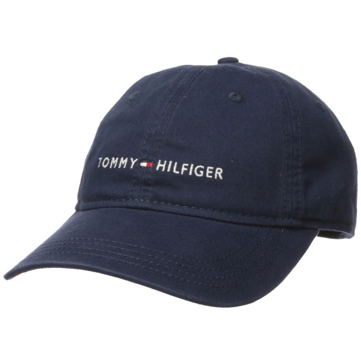 Tommy Hilfiger Men's Logo Dad Baseball Cap, Navy