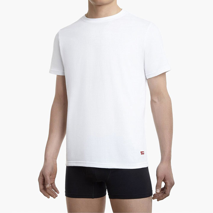 Set 4 áo Levi's Short Sleeve Cotton Crew Neck - White, Size L