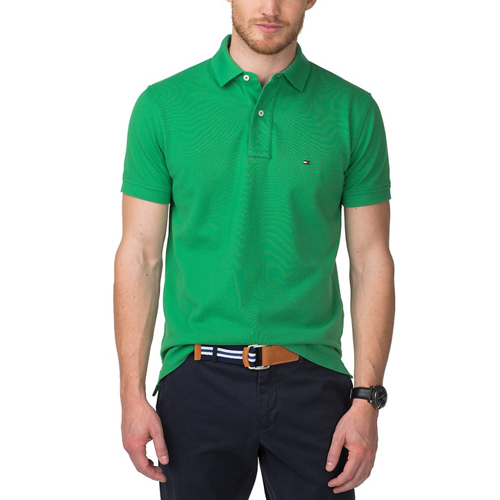 Tommy Hilfiger Custom Fit Essential Solid Polo Shirt - Green, Size M