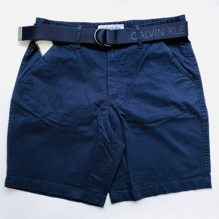 Calvin Klein Jeans Men's Short With Belt - Peacoat, size 38