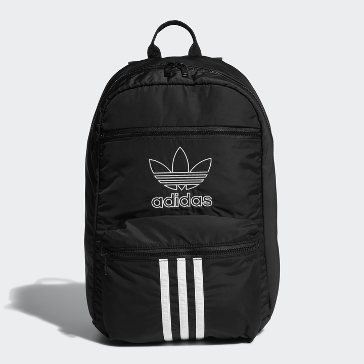 Adidas National 3-Stripes Backpack, Black