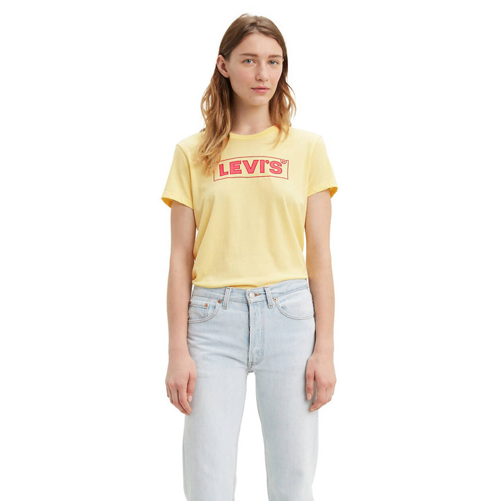 Levi's Perfect Graphic Tee Shirt - Banana, Size XS