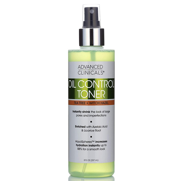 Advanced Clinicals Oil Control Toner, 237ml