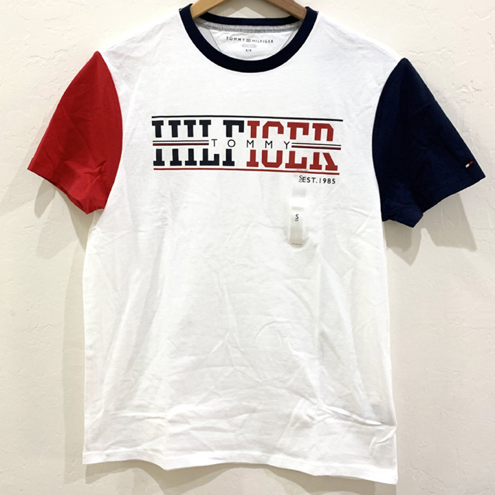 Tommy Hilfiger Logo Graphic Crew Neck T-Shirt - White, Size S
