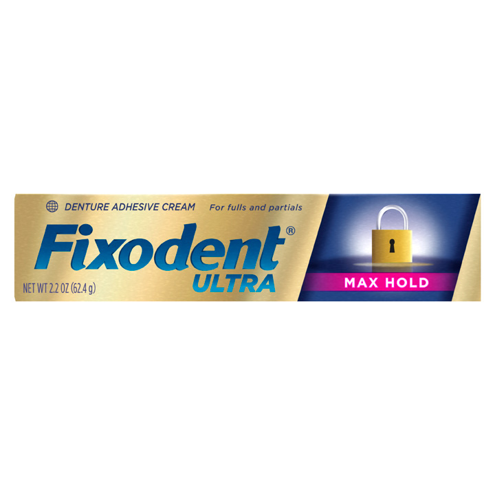 Fixodent Ultra Max Hold Denture Adhesive, 62.4g