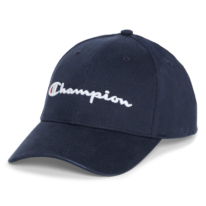 Champion Classic Twill Navy Strapback Hat, Navy