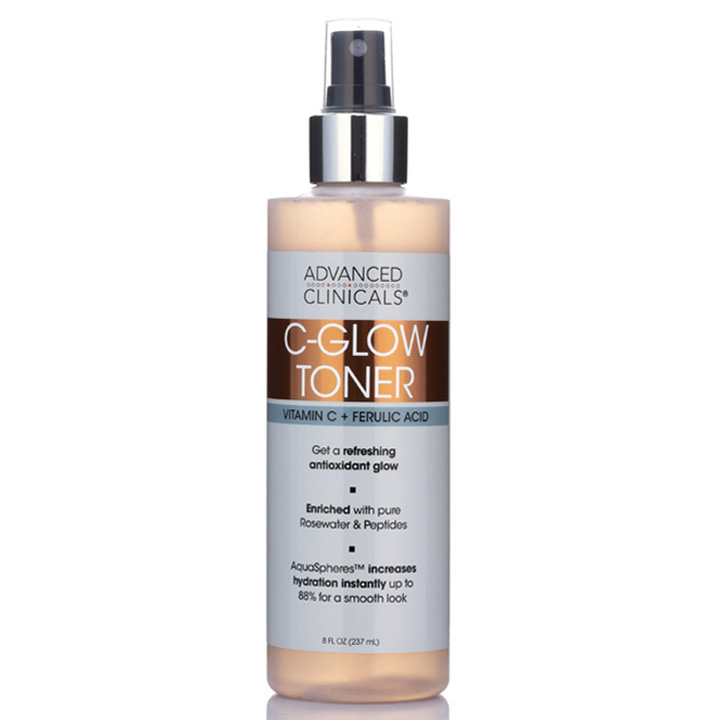 Advanced Clinicals C-Glow Toner, 237ml