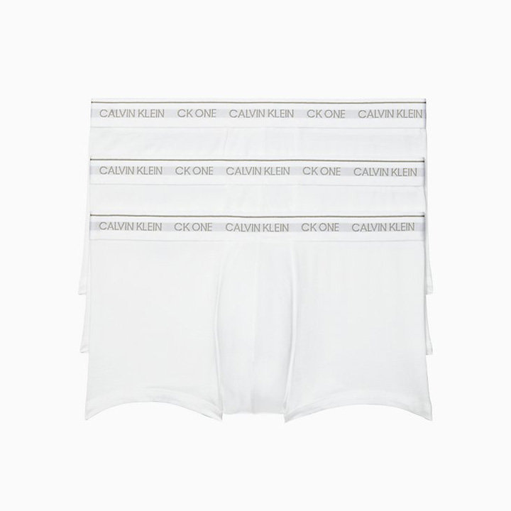 Set 3 Calvin Klein One Low Rise Trunk - White, Size L