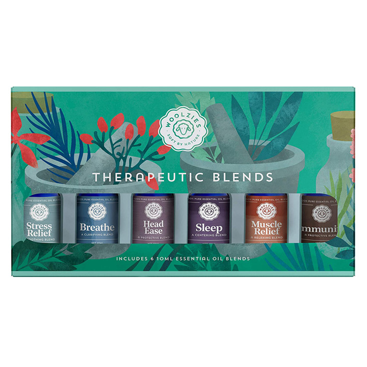 Tinh dầu thơm Woolzies The Therapeutic Blends Collection, 6 x 10ml