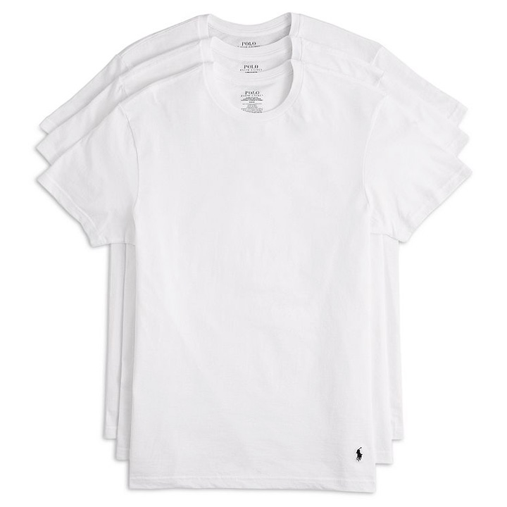 Set 3 áo Polo Ralph Lauren Slim Crew Neck Wicking Tee - White, Size M