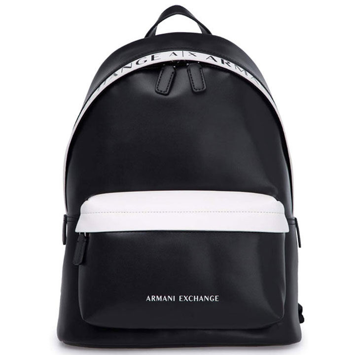 Balo Armani Exchange Logo, Black/ White