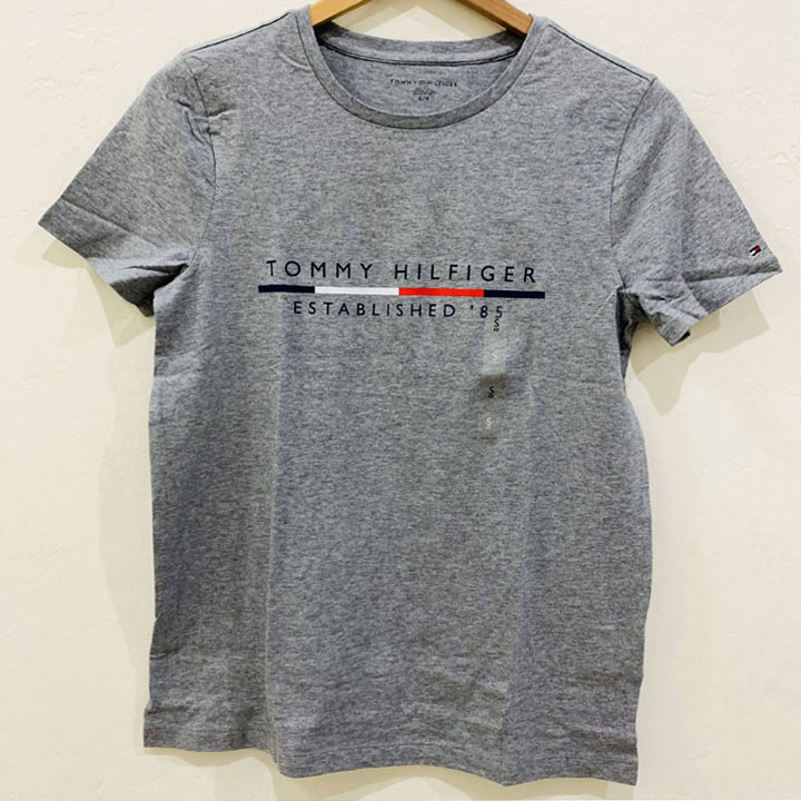 Áo Tommy Hilfiger Cotton Logo T-Shirt - Grey, Size L