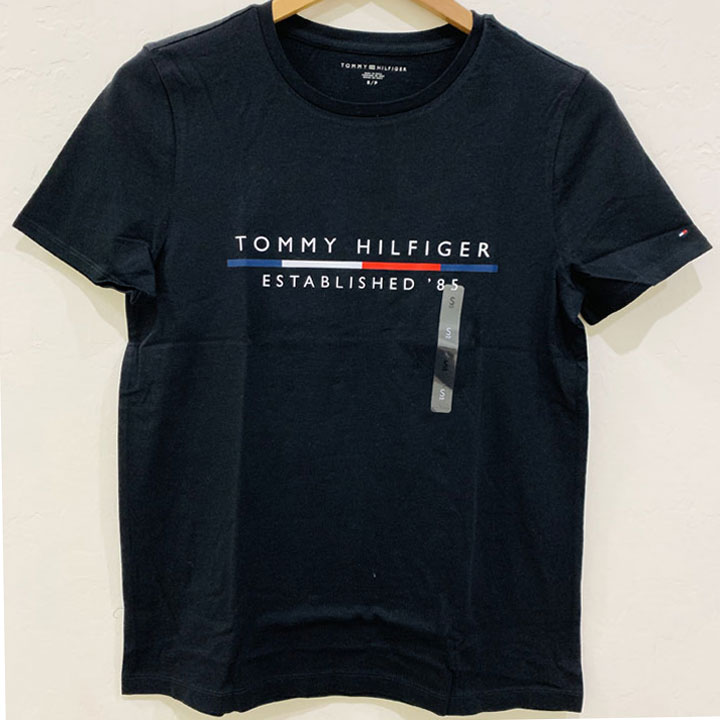 Áo Tommy Hilfiger Cotton Logo T-Shirt - Black, Size M