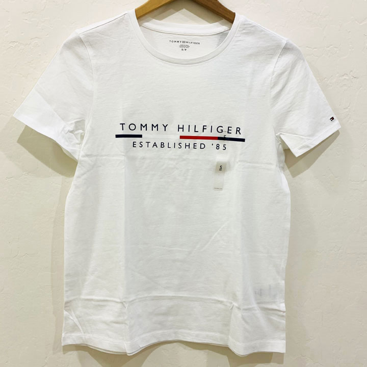 Áo Tommy Hilfiger Cotton Logo T-Shirt - White, Size S