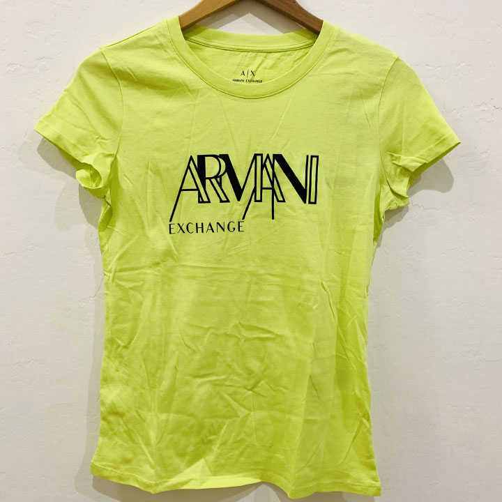 Áo Armani Exchange Graphic Crewneck T-Shirt - Neon Green/ Black, Size M
