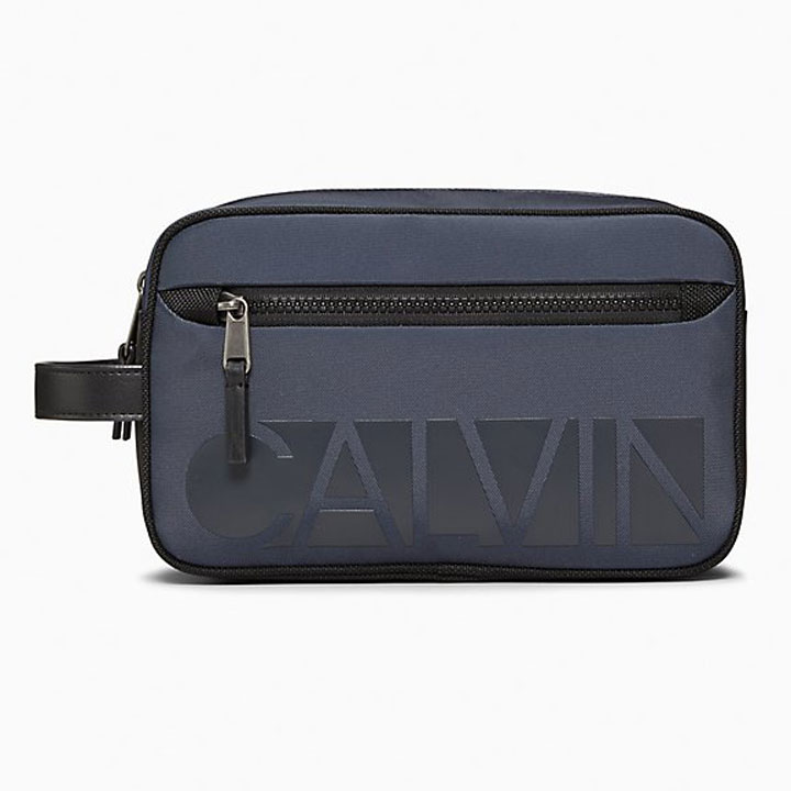 Túi Calvin Klein Essential Nylon Dopp Kit, Graphite Blue