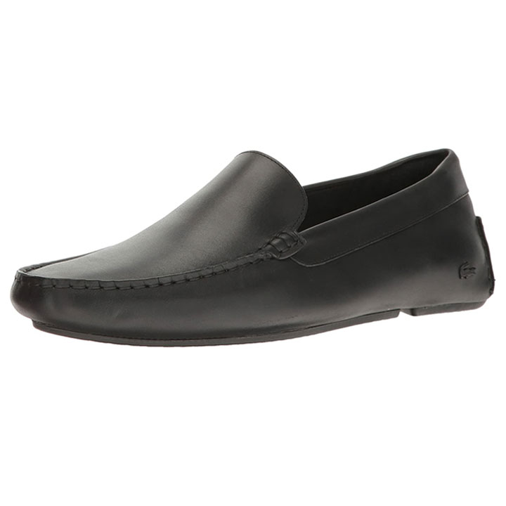 Giày Lacoste Piloter 117 1 CAM Leather Loafer - Black, size 8 ~ 40.5