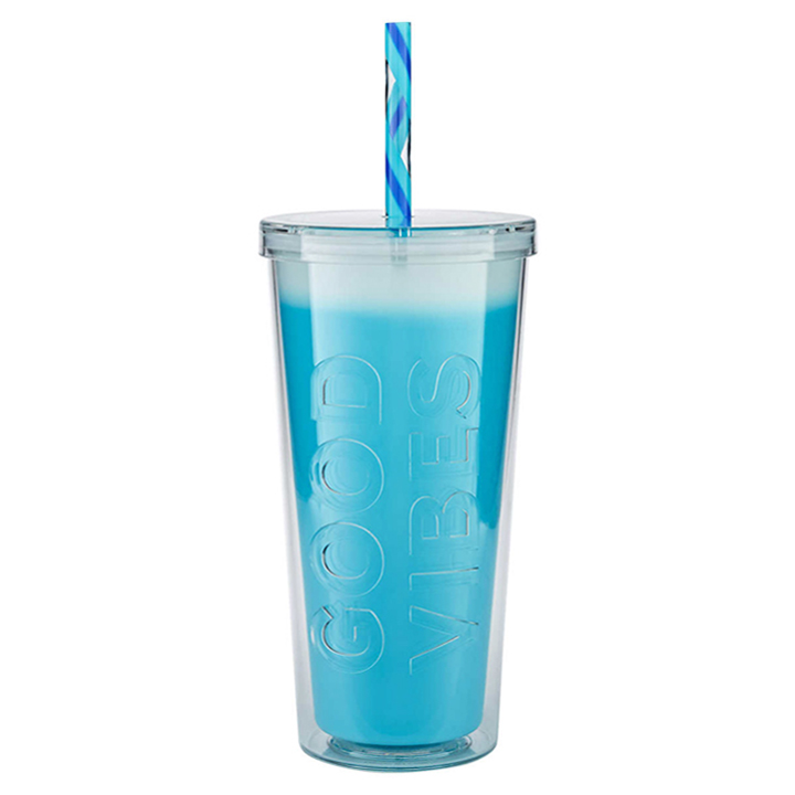 Ly đổi màu Parker Lane Double Wall Straw - Glacier Good Vibes, 660ml