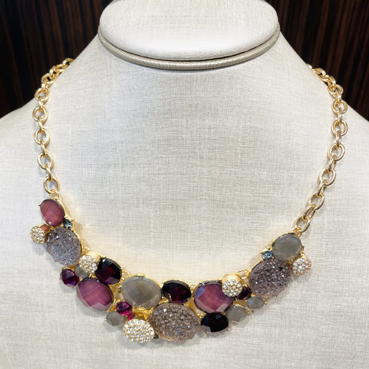 Vòng cổ Dillard's Violet Multi Beaded Crystal Frontal