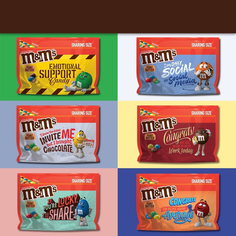 Kẹo M&M's Peanut Butter Chocolate Sharing Size, 272.2g