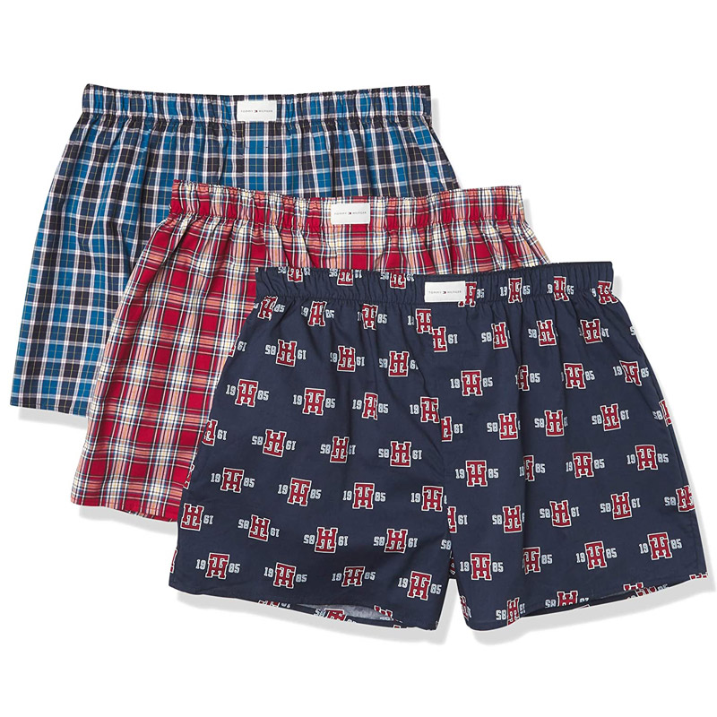 Set 3 Tommy Hilfiger Cotton Woven Boxers - Bluejay, Size S
