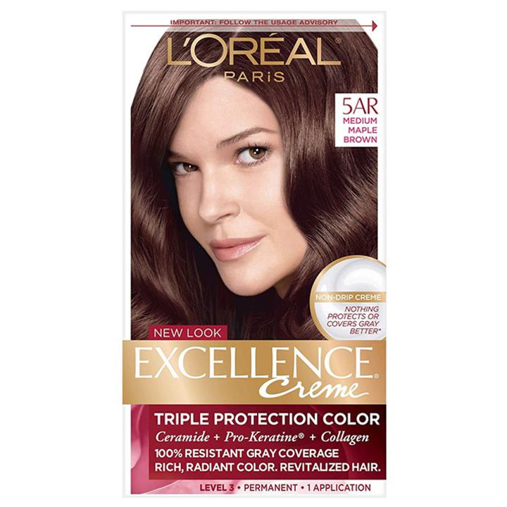 L'Oréal Excellence Creme, 5AR Medium Maple Brown