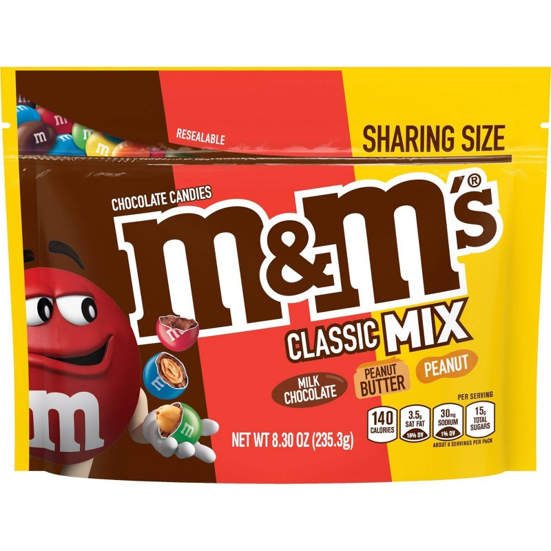 Kẹo M&M's Classic Mix Sharing Size, 235.3g