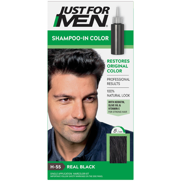 Thuốc nhuộm tóc Just For Men Shampoo-in Color, H-55 Real Black