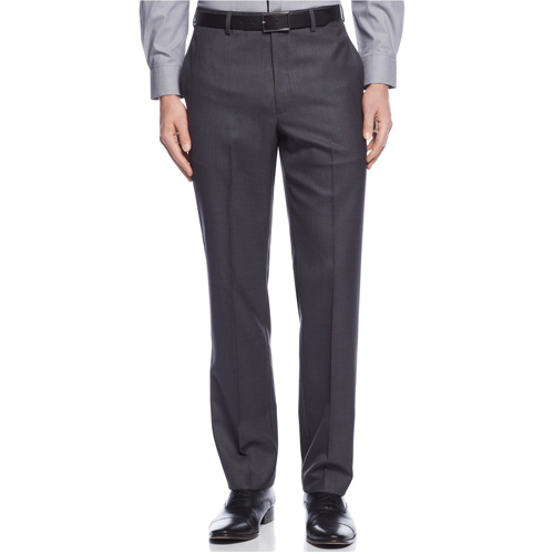 Calvin Klein Slim-Fit Solid Dress Pants - Grey, size 30x30