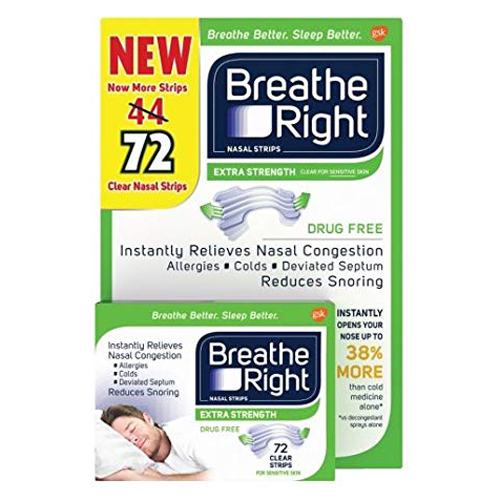 Breathe Right Nasal Strips Extra - Clear, 72 miếng