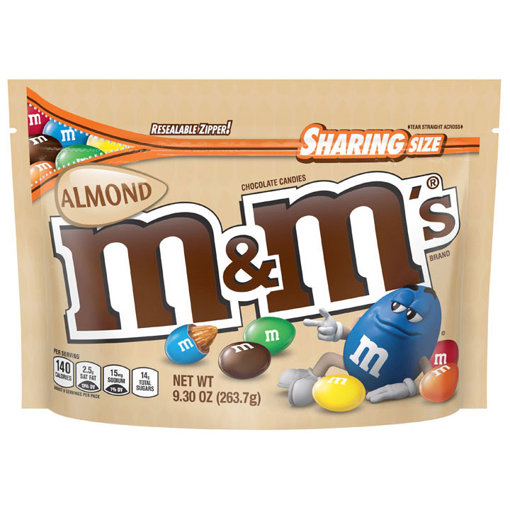 Kẹo M&M's Almond Chocolate Sharing Size, 263.7g