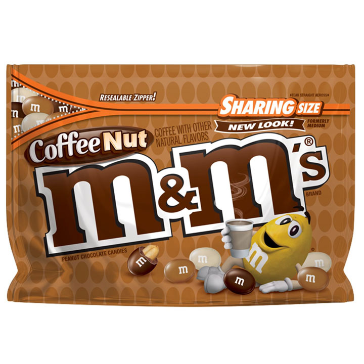 Kẹo M&M's Coffee Nut Chocolate Sharing Size, 272.2g