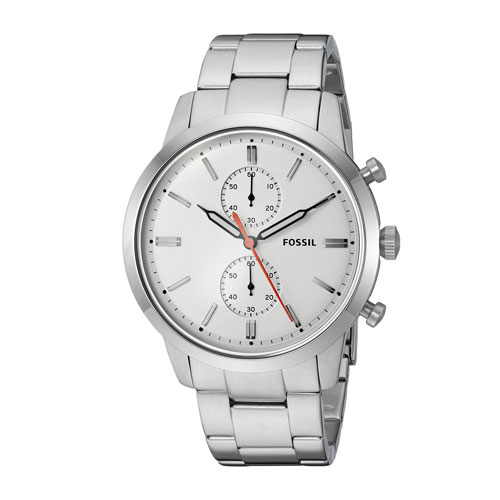 Fossil Townsman Chronograph White Dial Watch