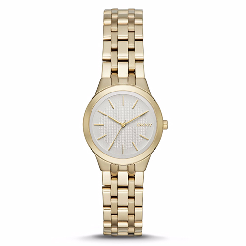 DKNY Park Slope Ladies Gold Tone