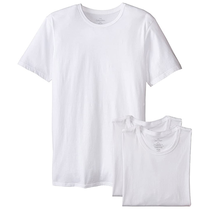 Set 3 áo Calvin Klein Slim Fit Crew Neck - White, Size M