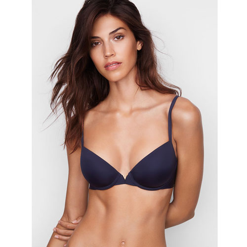 Victoria's Secret Lightly Lined Demi Bra - Navy, 36C