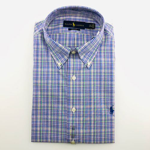 Polo Ralph Lauren Slim Spread Fit Shirt - Lavender Green, Size 16 (32/33)