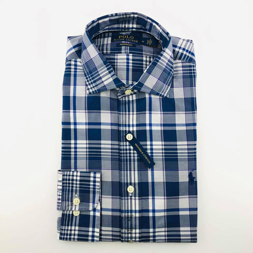 Polo Ralph Lauren Classic Fit Long Sleeved Shirts - Blue Striped, Size M