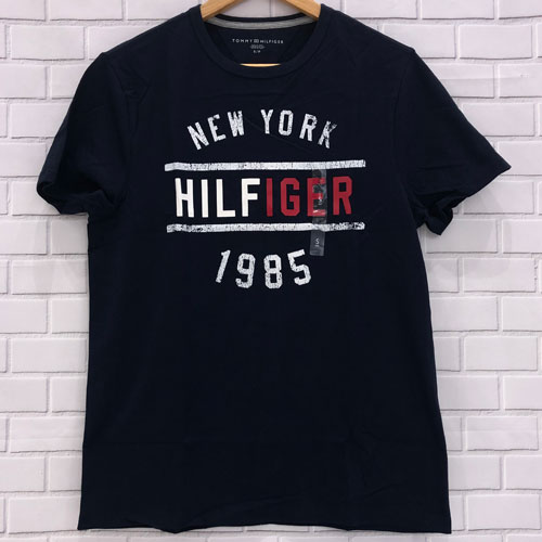 Tommy Hilfiger New York Hilfiger 1985 T-Shirts - Navy, Size S