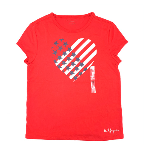 Tommy Hilfiger TH KIDS Signature T-Shirt – Red, Size XL