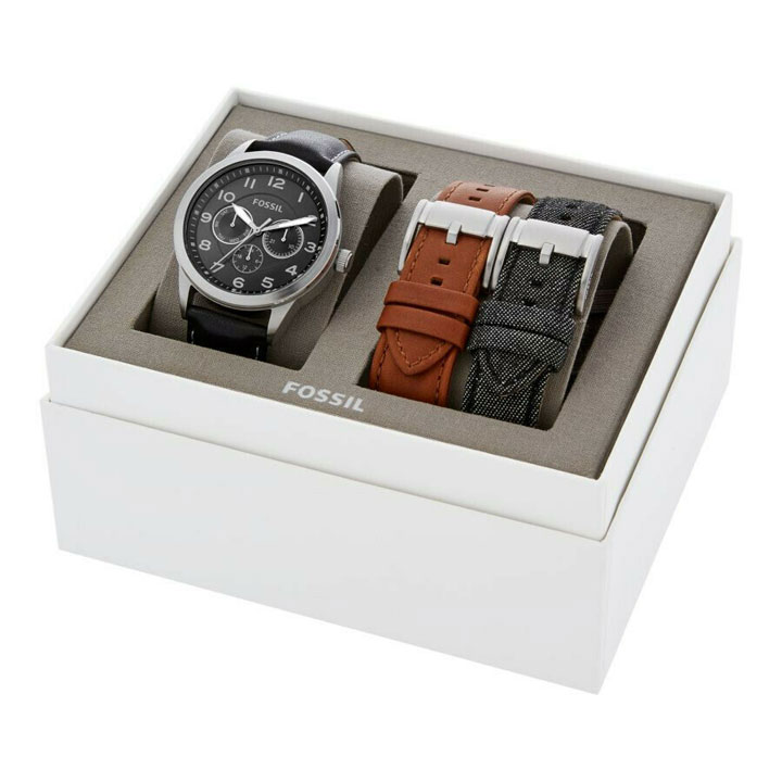 Set đồng hồ Fossil Flynn Chronograph Three-Hand Interchangeable Strap