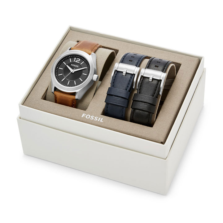 Set đồng hồ Fossil Editor Three-Hand Interchangeable Strap