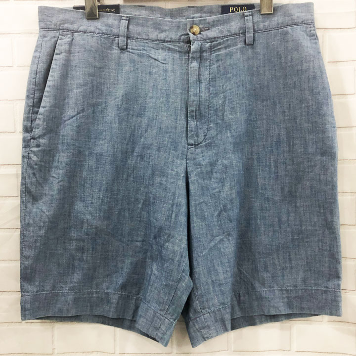 Polo Ralph Lauren Stretch Classic Fit Chino Shorts - Blue, Size 33