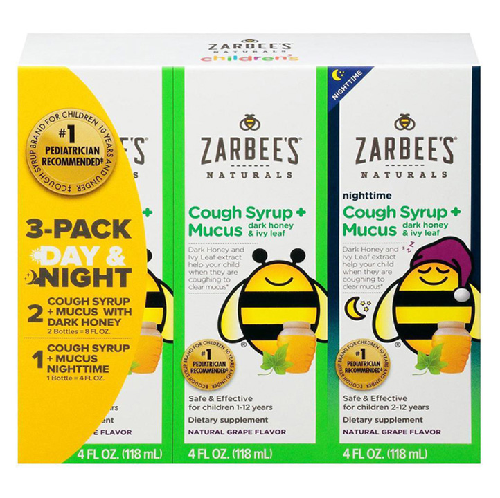 Siro Zarbee's Natural Children's Cough + Mucus Day & Night