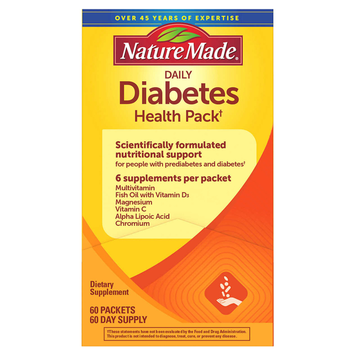 Nature Made Daily Diabetes Health Pack, 60 gói
