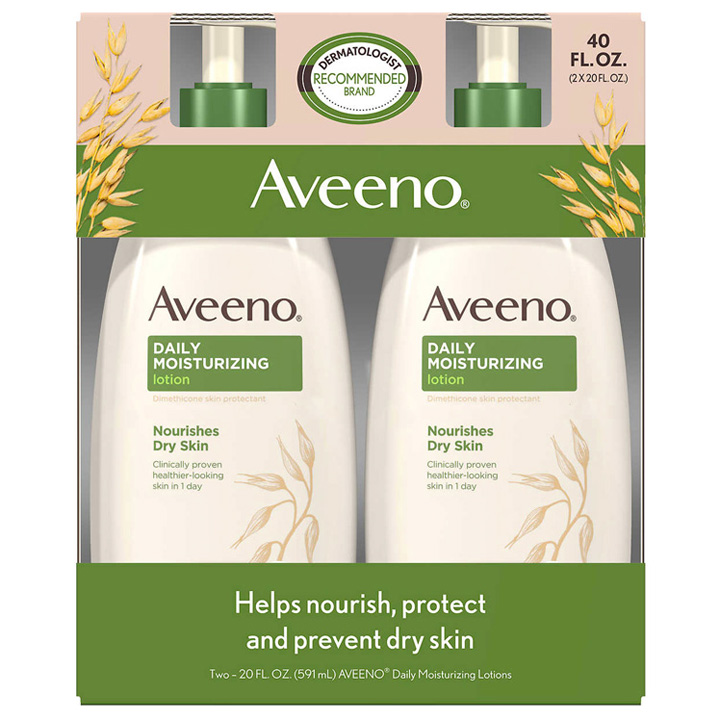 Lotion dưỡng da Aveeno Daily Moisturizing, 591ml x 2