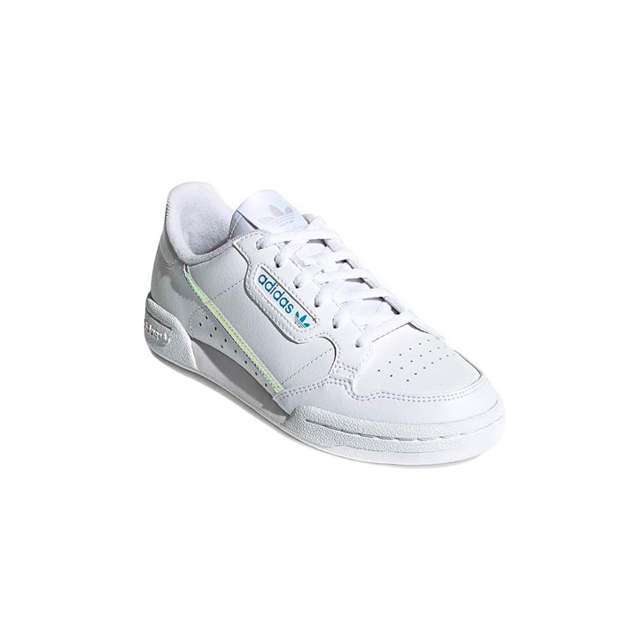 Adidas Sapatilhas Continental 80C Branco - Cloud White / Iridescent, Size 35