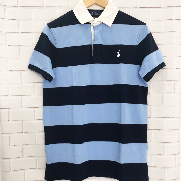 Polo Ralph Lauren Custom Slim Fit Polo Shirt - Navy/Blue, size S