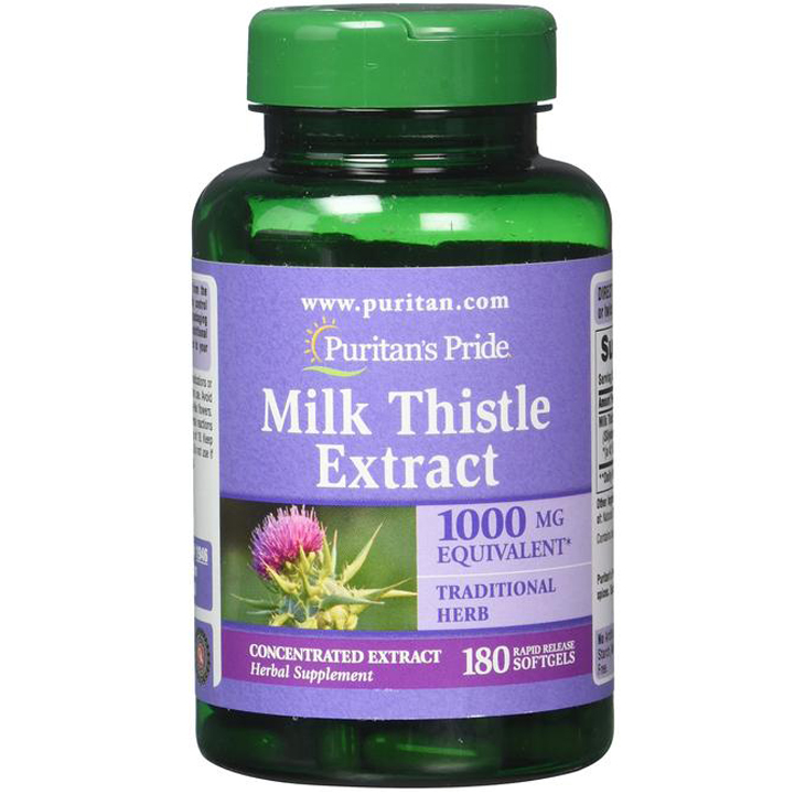 Puritan's Pride Milk Thistle Extract, 180 viên