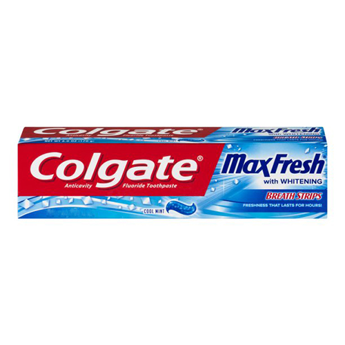 Kem đánh răng Colgate Max Fresh With Whitening Breath Strips, 215g